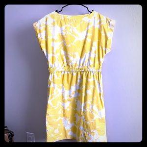 Fun yellow and white dress by Gap Sz S/M